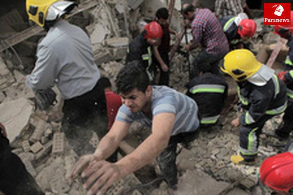انفجار خونین ساختمانی در اهواز