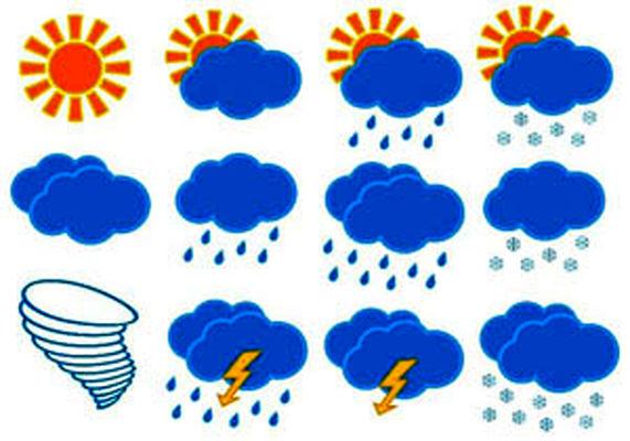 بارش های پراکنده در غرب کشور + جدول