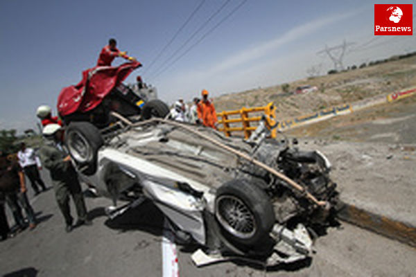 واژگونی مرگبار پژو در شرق تهران