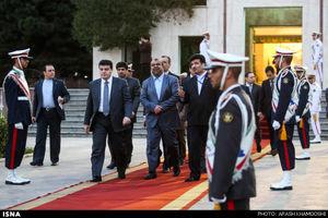 ورود نخست وزیر سوریه و استقبال توسط وزیر راه و شهرسازی به ایران
