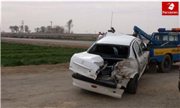 ۶ کشته و زخمی در تصادف زنجیرهای